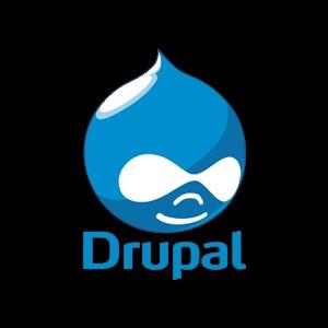 drupal logo black